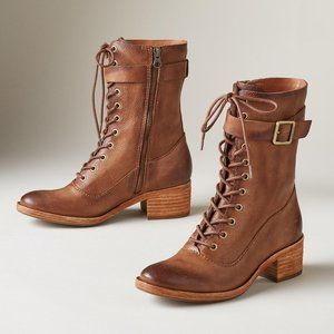 NEW Kork-Ease Mona Lace-Up Boot Brown Size 6 $245